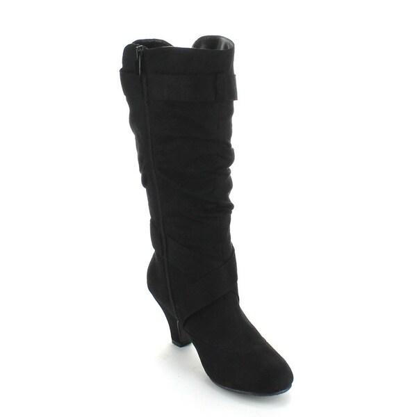 Forever Women's 'Maggie-38' Kitten Heel Knee-high Boots - Free ...