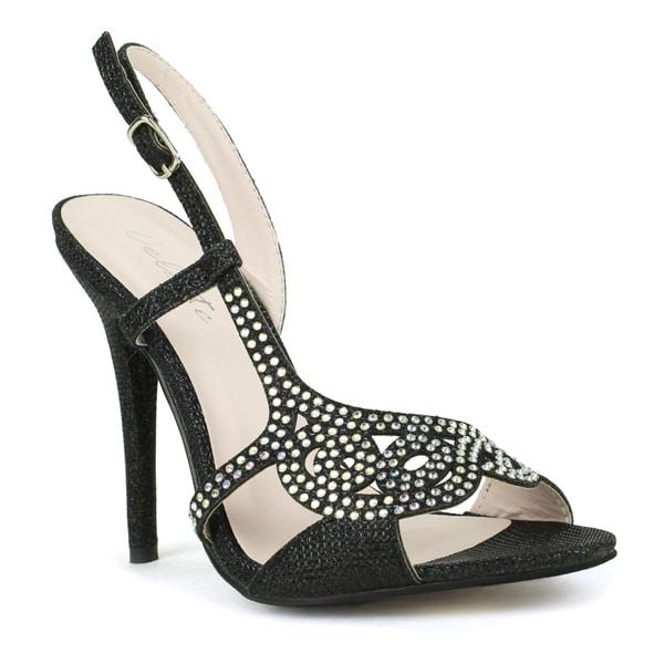 Celeste 'Wendy-09' Embellished Open-toe Dress Sandals