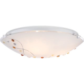Platinum Stellar 3-light Polished Chrome Large Flush Mount