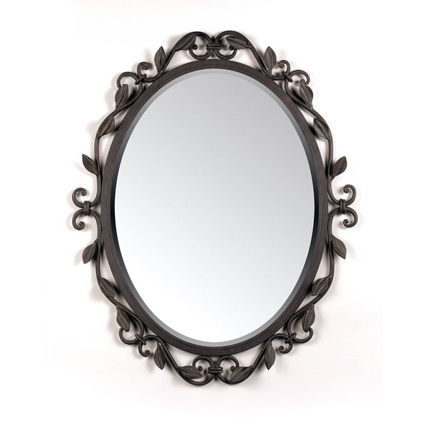 Englewood Small Imperial Bronze Scroll Frame Mirror Free