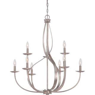 Quoizel Serenity Two-tier 9-light Italian Fresco Chandelier