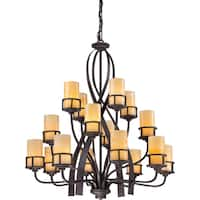 Quoizel Kyle 3-tier 16-light Imperial Bronze Chandelier