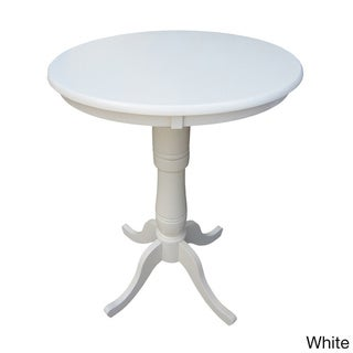 30-inch Round Top Two-tone Pedestal Table