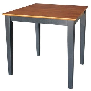 International Concepts Black/ Cherry Wood Top Table - Black/Cherry