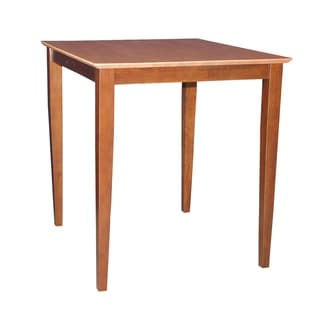 International Concepts Cinnamon/ Espresso Solid Wood Table - Cinnamon/Espresso
