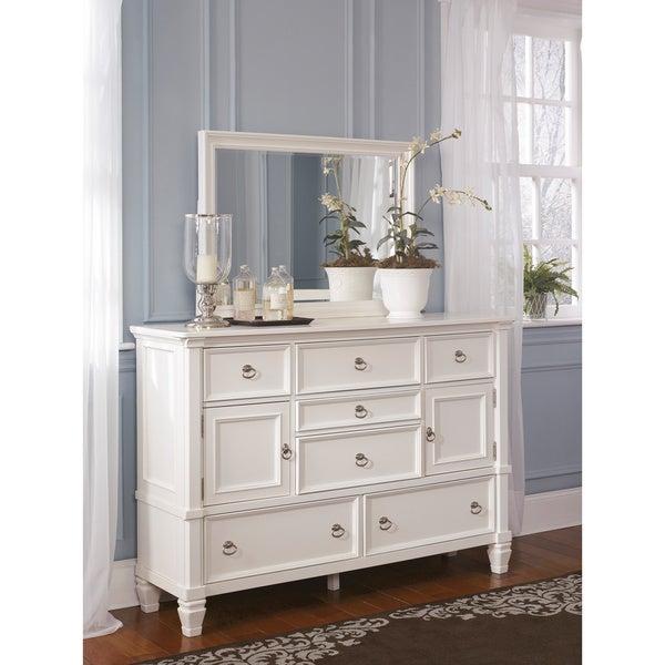 signature design by ashley prentice white dresser and mirror free