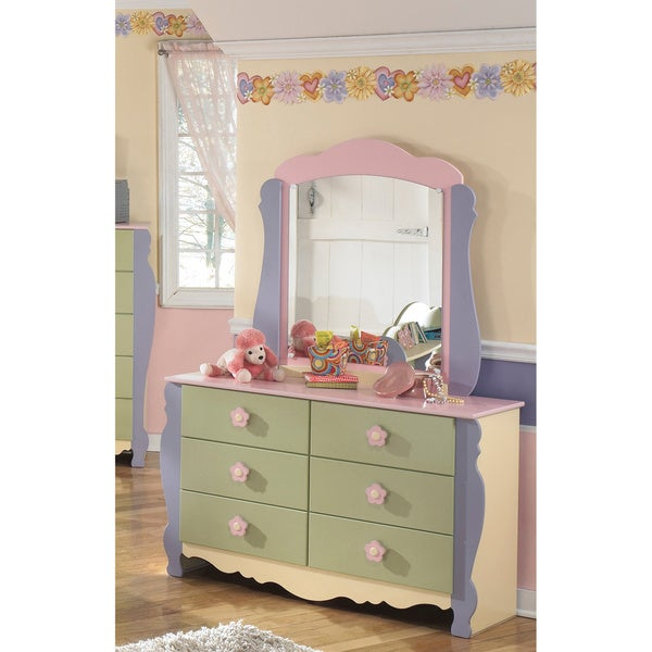 Shop Signature Design By Ashley Doll House Dresser And Mirror Free