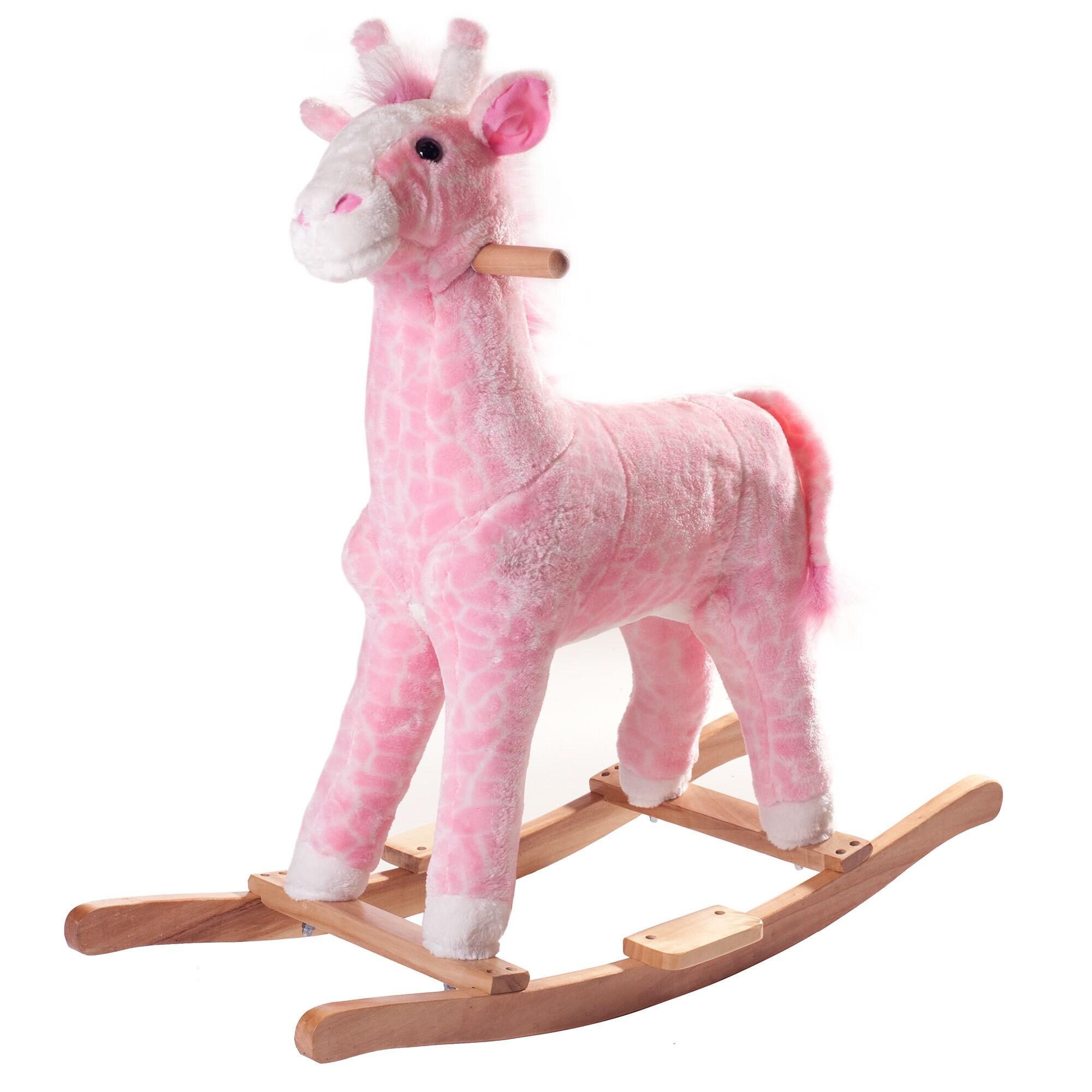 Happy Trails Plush Rocking Pink Penny the Giraffe (Pink G...