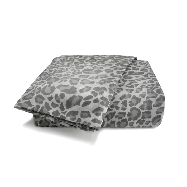 Wild Life Grey Leopard Sheet Set