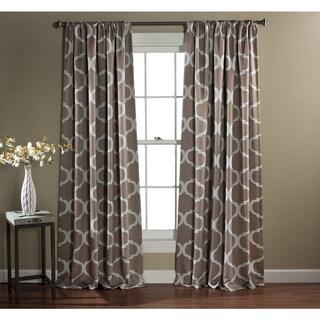 Gracewood Hollow Chidzero Trellis Curtain Panel Pair (Taupe)