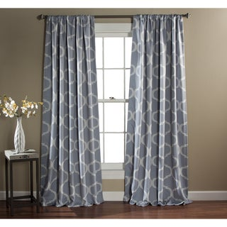 Gracewood Hollow Chidzero Trellis Curtain Panel Pair (Grey)