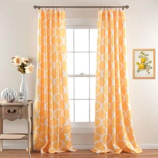 Gracewood Hollow Chidzero Trellis Curtain Panel Pair (Yellow)