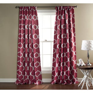 Gracewood Hollow Chidzero Trellis Curtain Panel Pair (Pink)