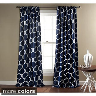 Gracewood Hollow Chidzero Trellis Curtain Panel Pair - 52 x 84 in.