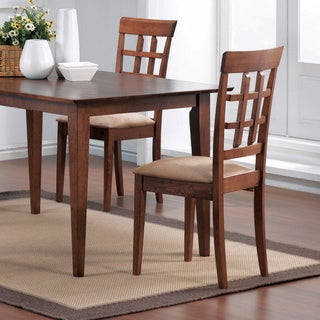 Wheat Back Style Wood Dining Chairs (Set of 2)