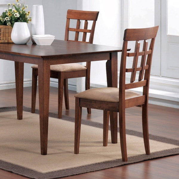 Coaster Company Wheat Back Style Wood Dining Chairs Set Of 2