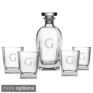 Personalized Luigi Bormioli 5-piece Decanter/ Glasses Set (More options available)