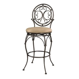 Powell Monaco Scroll Circle Back Barstool
