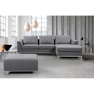 OSLO by Beliani Modern Fabric Upholstered Sectional Sofa