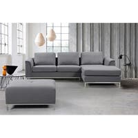 Modern Fabric Upholstered Sectional Sofa - OLLON