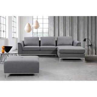 Modern Fabric Upholstered Sectional Sofa - OLLON