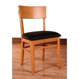 Andy Solid Beech Wood Upholstered Dining Chairs Set Of 2