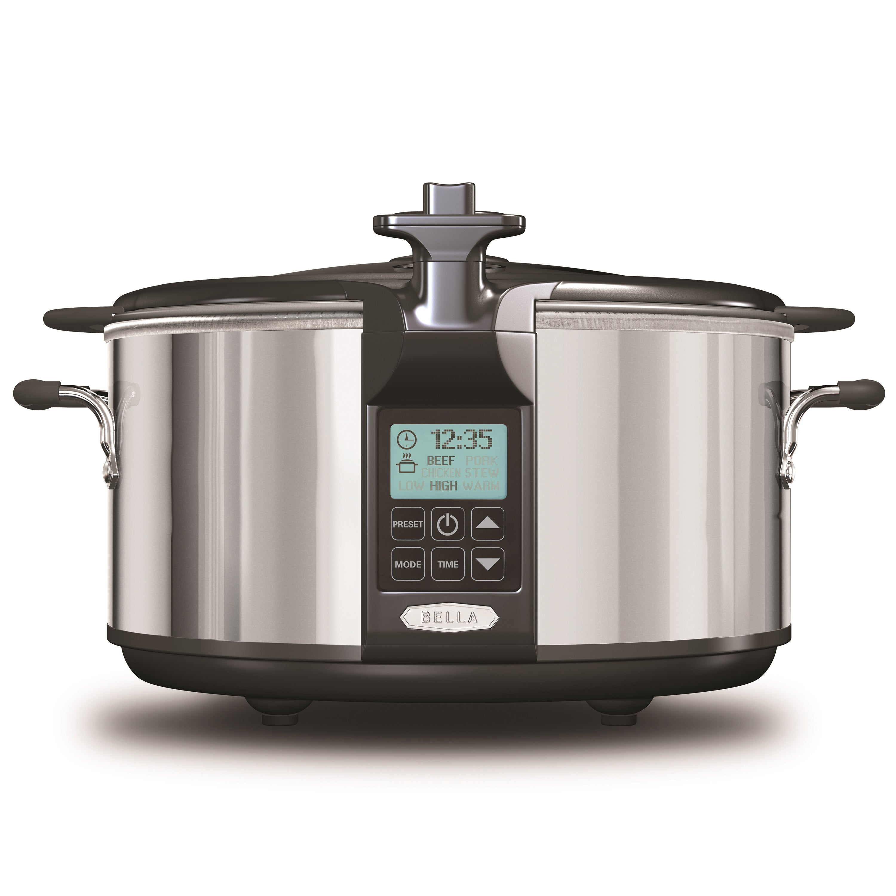 Bella 6.5-quart Programmable Slow Cooker with Locking Lid...