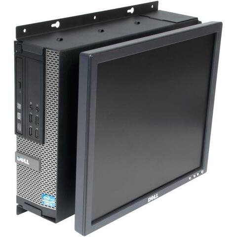 Rack Solutions Wall Mount for Flat Panel Display, Desktop Computer - Black Powder Coat
