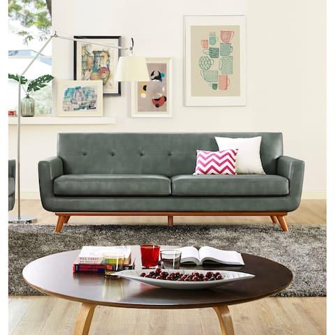 Lyon Smoke Grey Leather Sofa