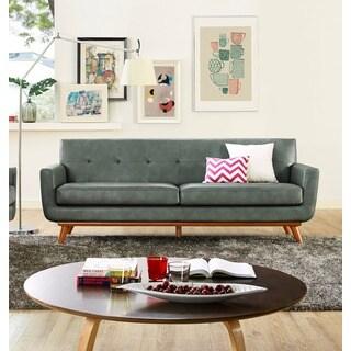 Lyon Smoke Grey Leather Sofa Part 54