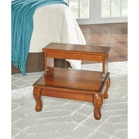 Powell Macon Bed Steps with-drawer - overpacked - Brown