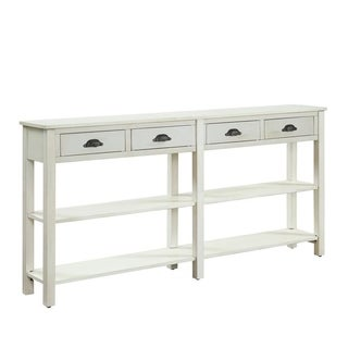Powell Brigid Cream Crackle Finish Wood Console Table