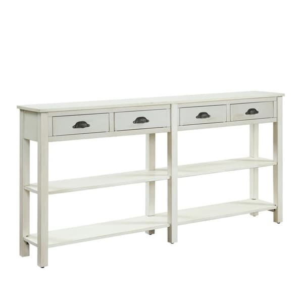 Delicieux Powell Brigid Cream Crackle Finish Wood Console Table