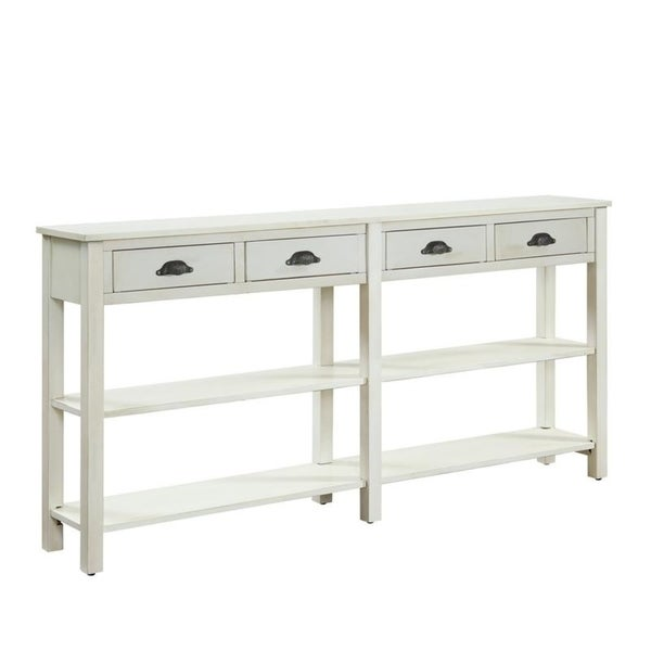 Powell Brigid Cream Le Finish Wood Console Table