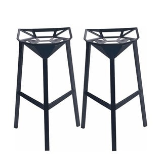 Mod Made Geometric Aluminum Barstool (Set of 2)