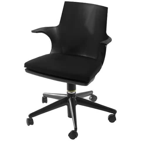 Mod Made Jaden Modern Black Office Chair With Rolling Casters