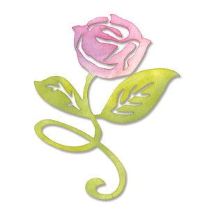 Sizzix Sizzlits Flower, Rose with Stern & Leaves Die by Scrappy Cat