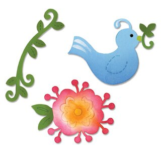 Sizzix Sizzlits Bird & Flower Vine Die Set by Dena Designs (3-pack)