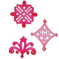Sizzix Sizzlits Decorative Accent Die Set by Dena Designs (3-pack)