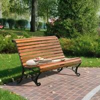 Furniture of America Ellissa Natural Oak Outdoor Bench