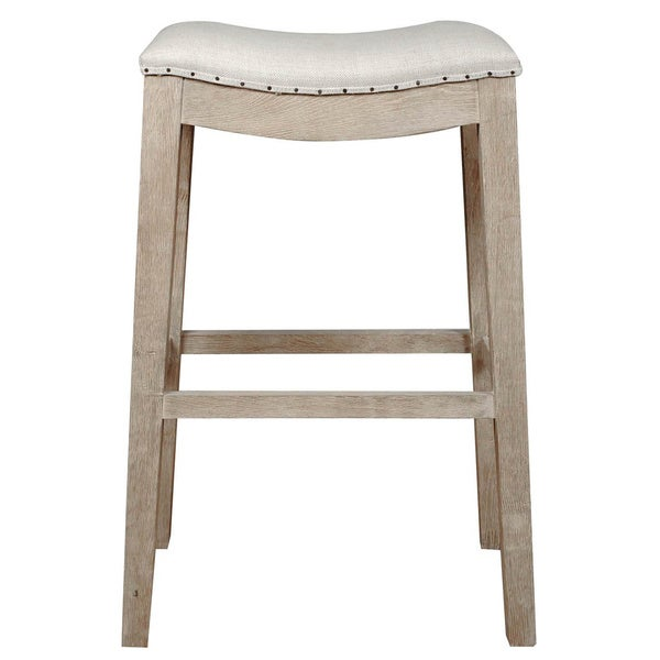 Colton Bisque French Linen Barstool Free Shipping Today