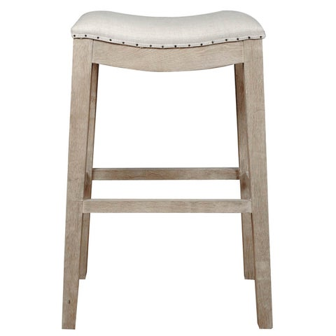 The Gray Barn Foxtail French Linen Barstool