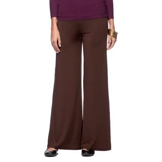 White Mark Women's Relaxed Palazzo Pants (Option: 1x)