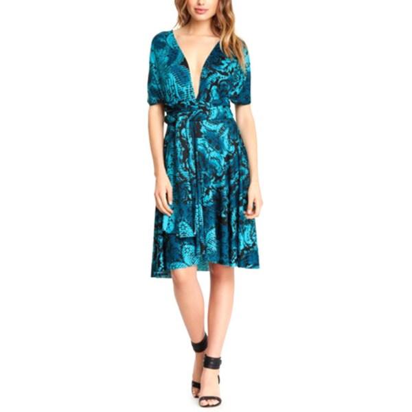 95e34d9c20b99 Shop Women's Printed Multi Way Wrap Convertible Infinity Short Dress ...