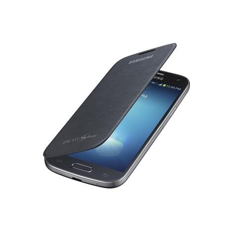 Samsung Galaxy S 4 Mini Flip Black Cover Folio Case