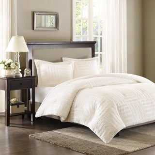 Madison Park Polar Ivory Fur Down Alternative Comforter Set