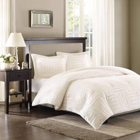 Madison Park Polar Ivory Fur Down Alternative Comforter Set