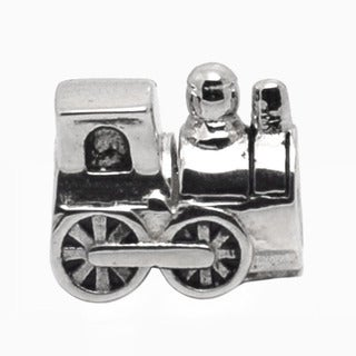 De Buman Sterling Silver Train Charm Bead