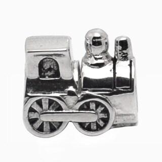 De Buman Sterling Silver Train Charm Bead