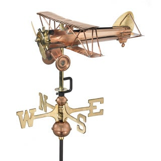 Good Directions Biplane Garden Weathervane